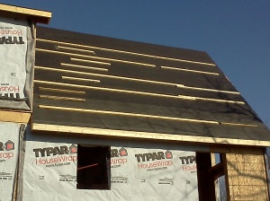 Now that's a steep roof...ready for shingles